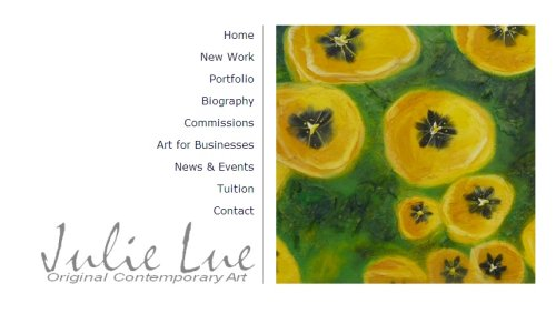 Julie Lue Art Design home page