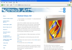 An example website for a stained glass artist